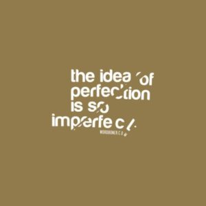 the Idea of perfection is so imperfect.